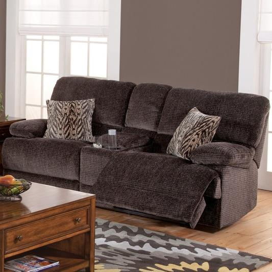 New Classic Idaho Casual Reclining Console Loveseat - Item Number: 20-593-25-SHA