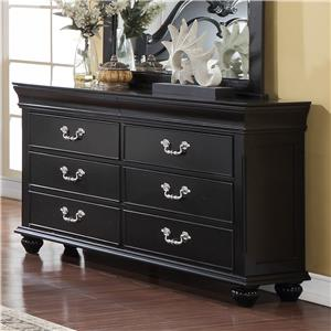 New Classic Jaquelyn 6 Drawer Dresser
