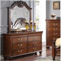 New Classic Jaquelyn Dresser & Mirror Set - Item Number: 00-B8651-050+060