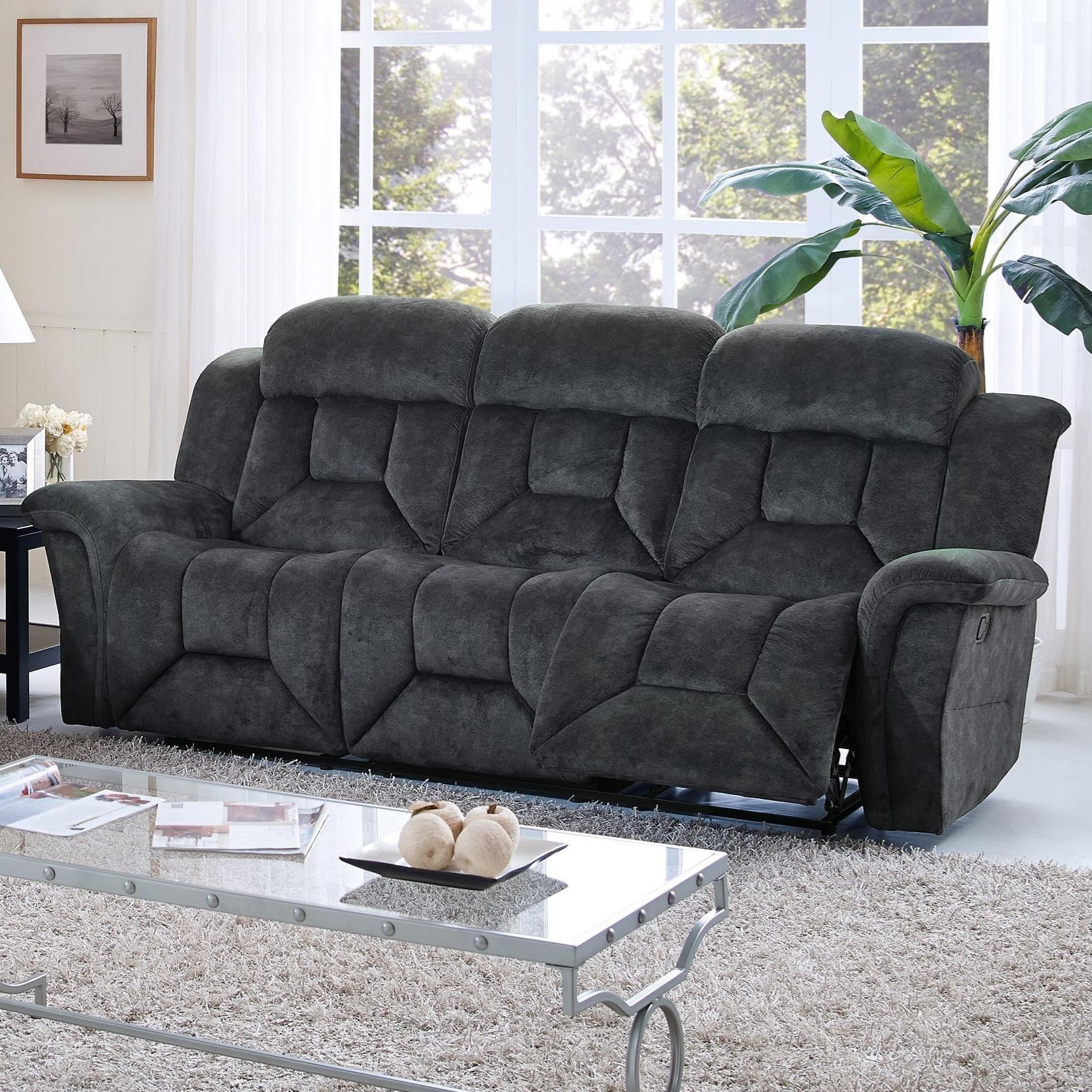 New Classic Jemma Dual Recliner Sofa - Item Number: 20-2191-30-CGY