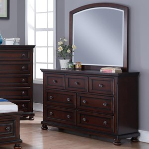New Classic Jesse Dresser and Mirror Set