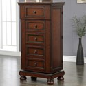 New Classic Jesse Five Drawer Swivel Chest with Hidden Storage and Mirror