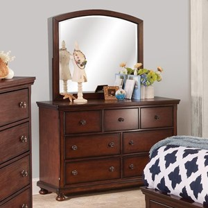 New Classic Jesse Youth Dresser and Mirror Set