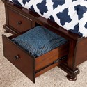 New Classic Jesse Full Low Profile Storage Bed with Sleigh Style Panel Headboard - Footboard Drawers
