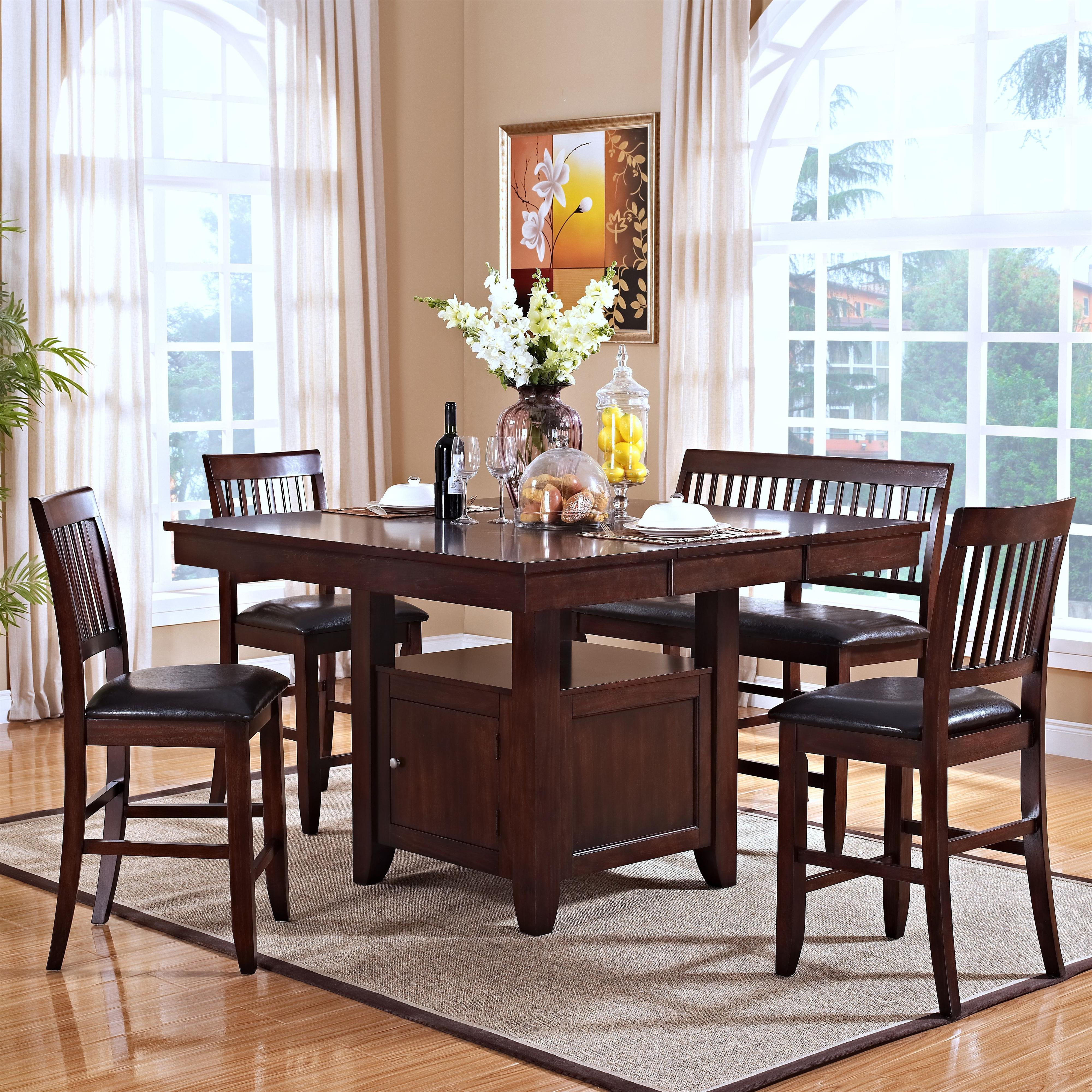 New Classic Kaylee 5 Piece Table Set - Item Number: 45-101-10+B+3x20+25