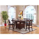 New Classic Kaylee Counter Height Table with Storage Pedestal Base