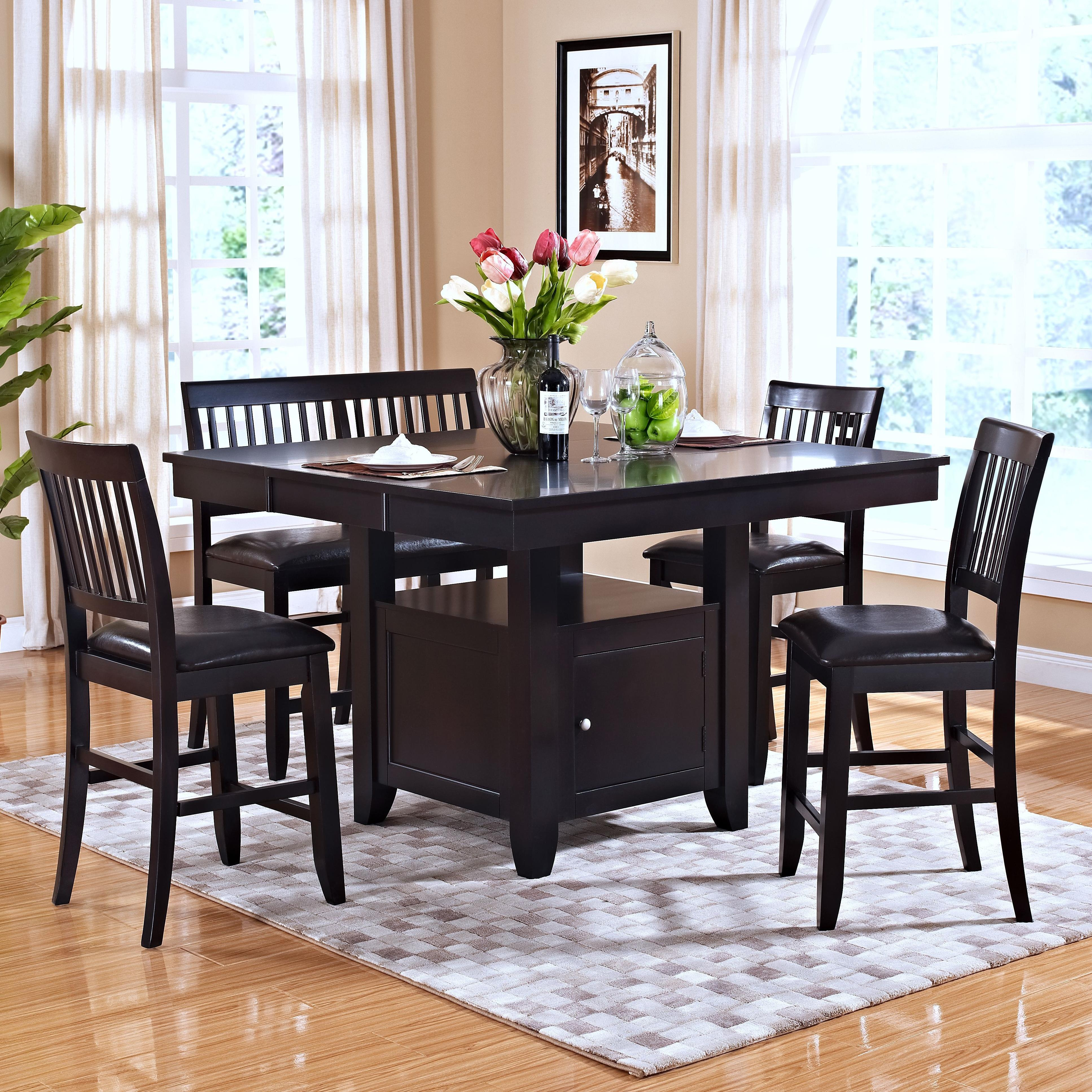 New Classic Kaylee 5 Piece Table Set - Item Number: 45-102-10+B+3x20+25