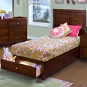 New Classic Kensington Twin Storage Bed - Item Number: 05-060-510+528+530