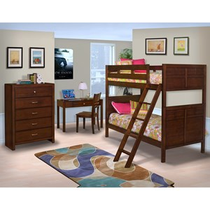 New Classic Kensington Twin/Full Bunk Bed Bedroom Group