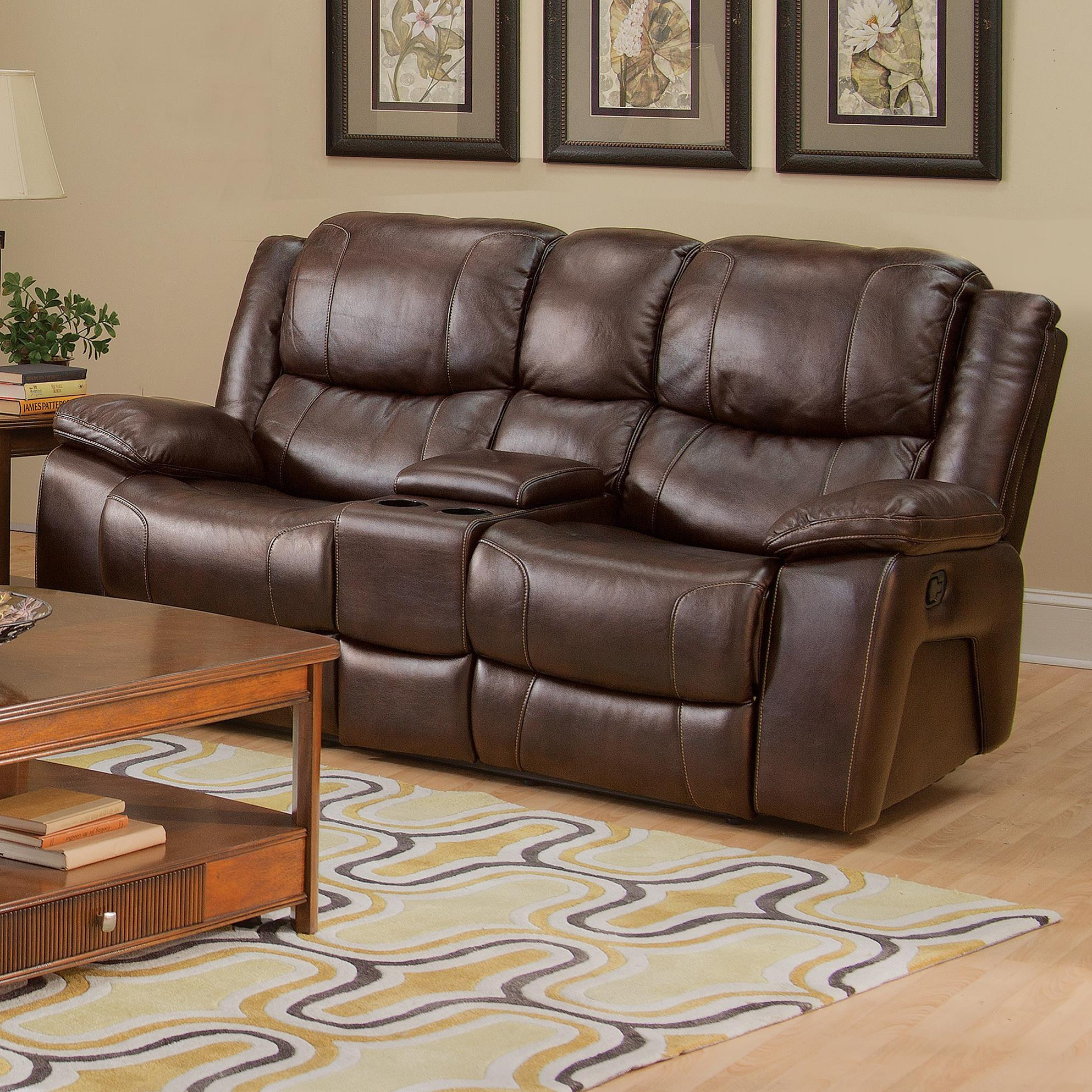 New classic kenwood casual dual recliner console loveseat with cup holders and storage drawer Loveseat with cup holders