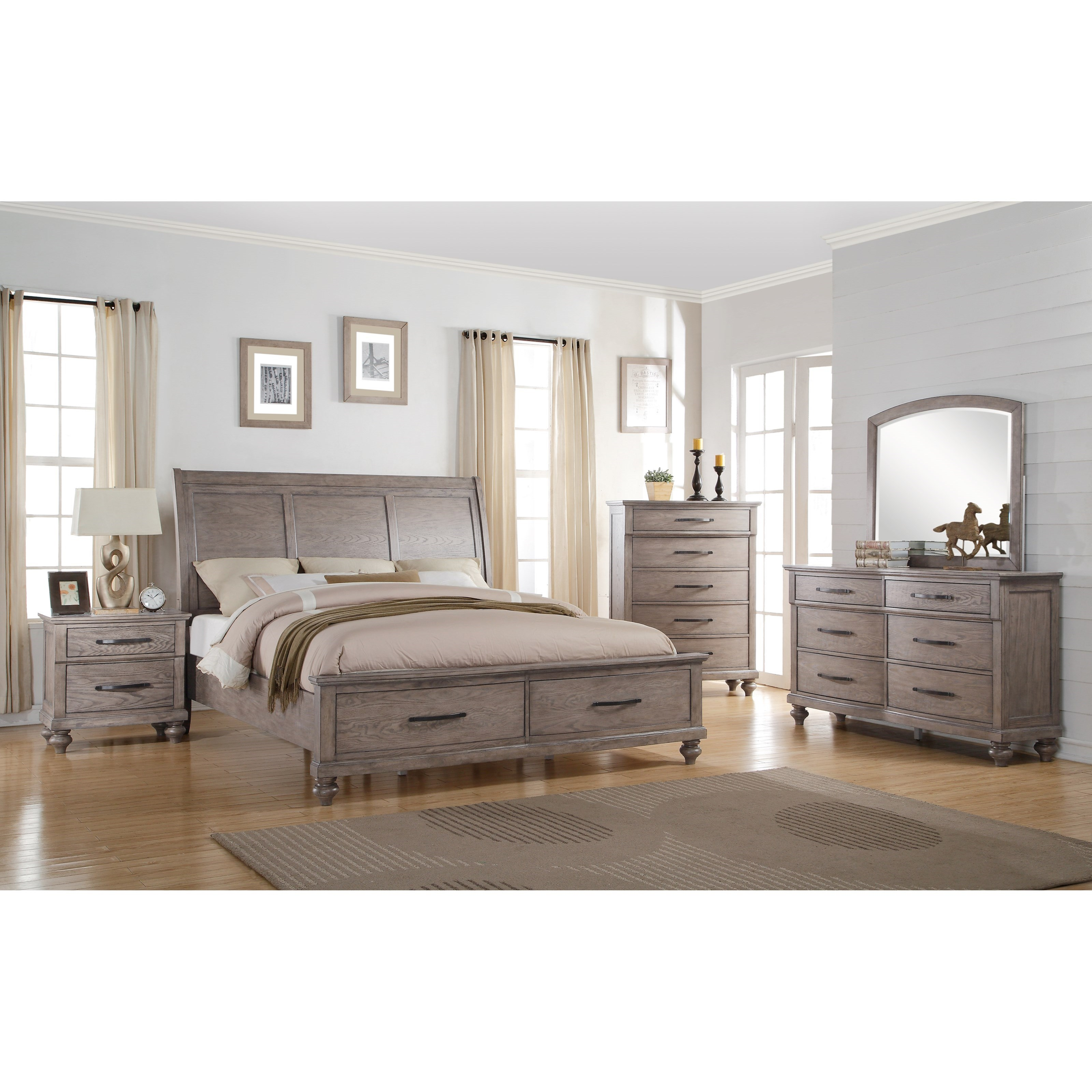 New Classic La Jolla Queen Bedroom Group - Item Number: B1033 Q Bedroom Group 1