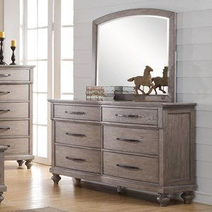 New Classic La Jolla Dresser and Mirror Set