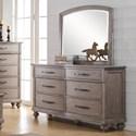 New Classic La Jolla Dresser and Mirror Set - Item Number: B1033-050+060