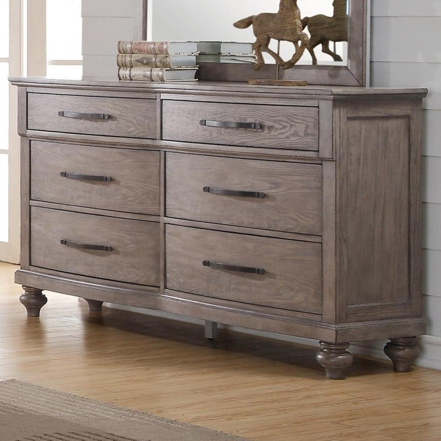 New Classic La Jolla Six Drawer Dresser With Bar Pull Hardware Michael 39 S Furniture Warehouse