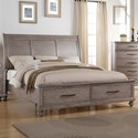 New Classic La Jolla King Storage Bed - Item Number: B1033-110+128+330