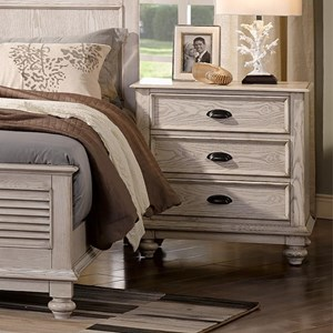 Traditional Nightstand with Built-in USB Chargers