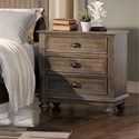 New Classic Lakeport Pewter Nightstand - Item Number: 00-220-040P
