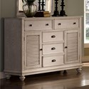 New Classic Lakeport White Driftwood Dresser - Item Number: 00-220-050