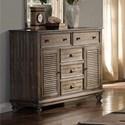 New Classic Lakeport Pewter Dresser - Item Number: 00-220-050P