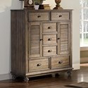 New Classic Lakeport Pewter Mule Chest - Item Number: 00-220-075