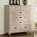 New Classic Lakeport White Driftwood Mule Chest - Item Number: 00-220-075W
