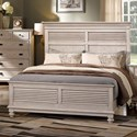 New Classic Lakeport White Driftwood Cal King Headboard and Footboard Bed - Item Number: 00-220-215W+235W