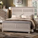 New Classic Lakeport White Driftwood Queen Headboard and Footboard Bed - Item Number: 00-220-315W+335W