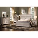 New Classic Lakeport White Driftwood Queen Bedroom Group - Item Number: 00-220W Q Bedroom Group 1