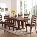 New Classic Lanesboro 7 Piece Dining Table Set - Item Number: D0376-10+10B+6x20