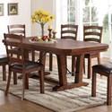 New Classic Lanesboro Dining Table  - Item Number: D0376-10+10B