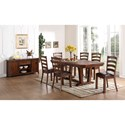 New Classic Lanesboro Trestle Dining Table with Iron Bolt and Extender Accents