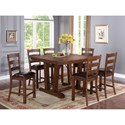 New Classic Lanesboro Trestle Counter Table with Iron Bolt Accents