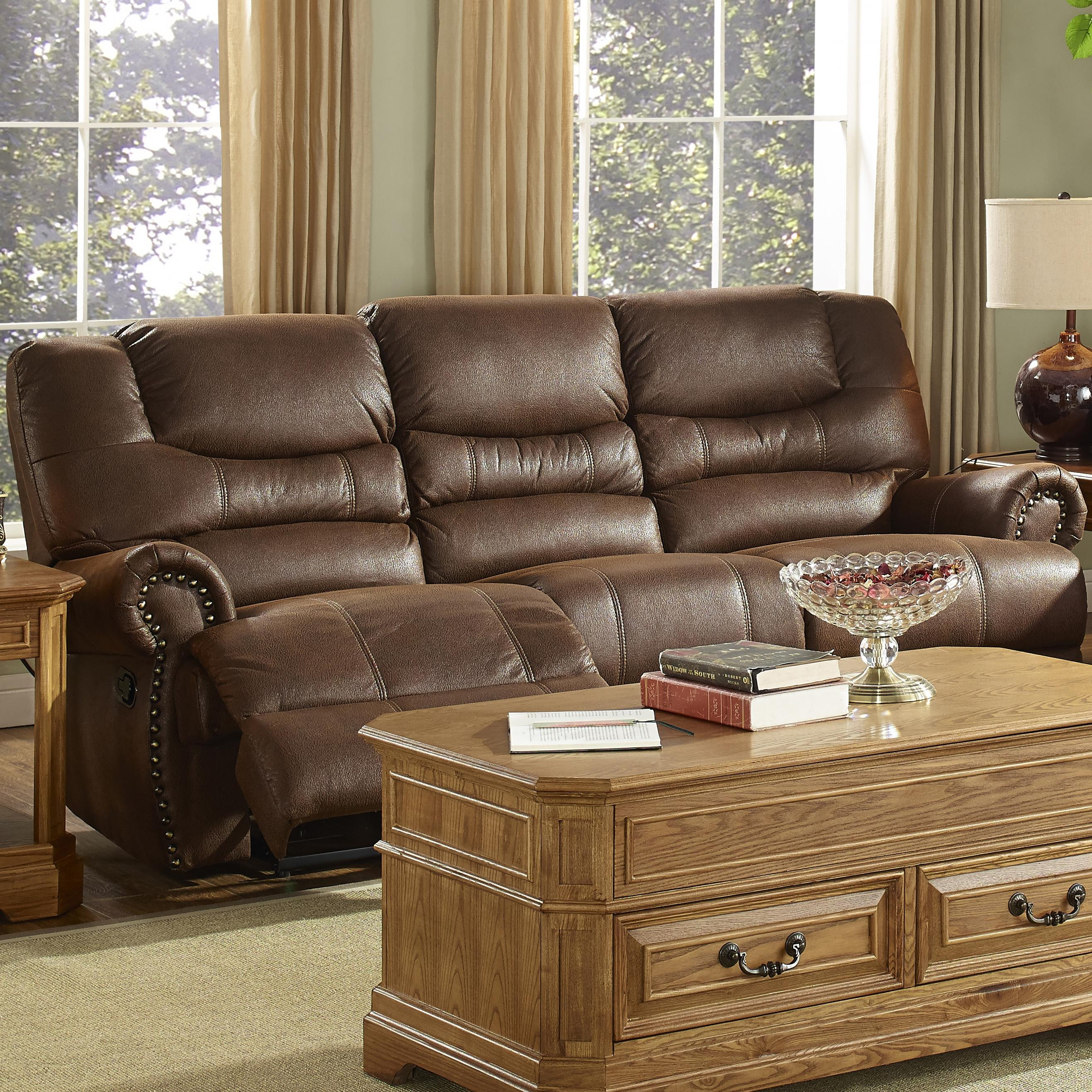 New Classic Laredo Traditional Dual Power Reclining Sofa with