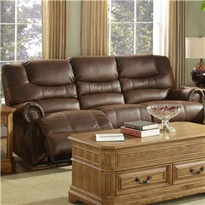 New Classic Laredo Traditional Dual Reclining Sofa