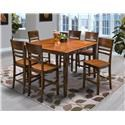 New Classic Latitudes Counter Table with 6 Counter Chairs - Item Number: 45-150-22T + 45-160-10T