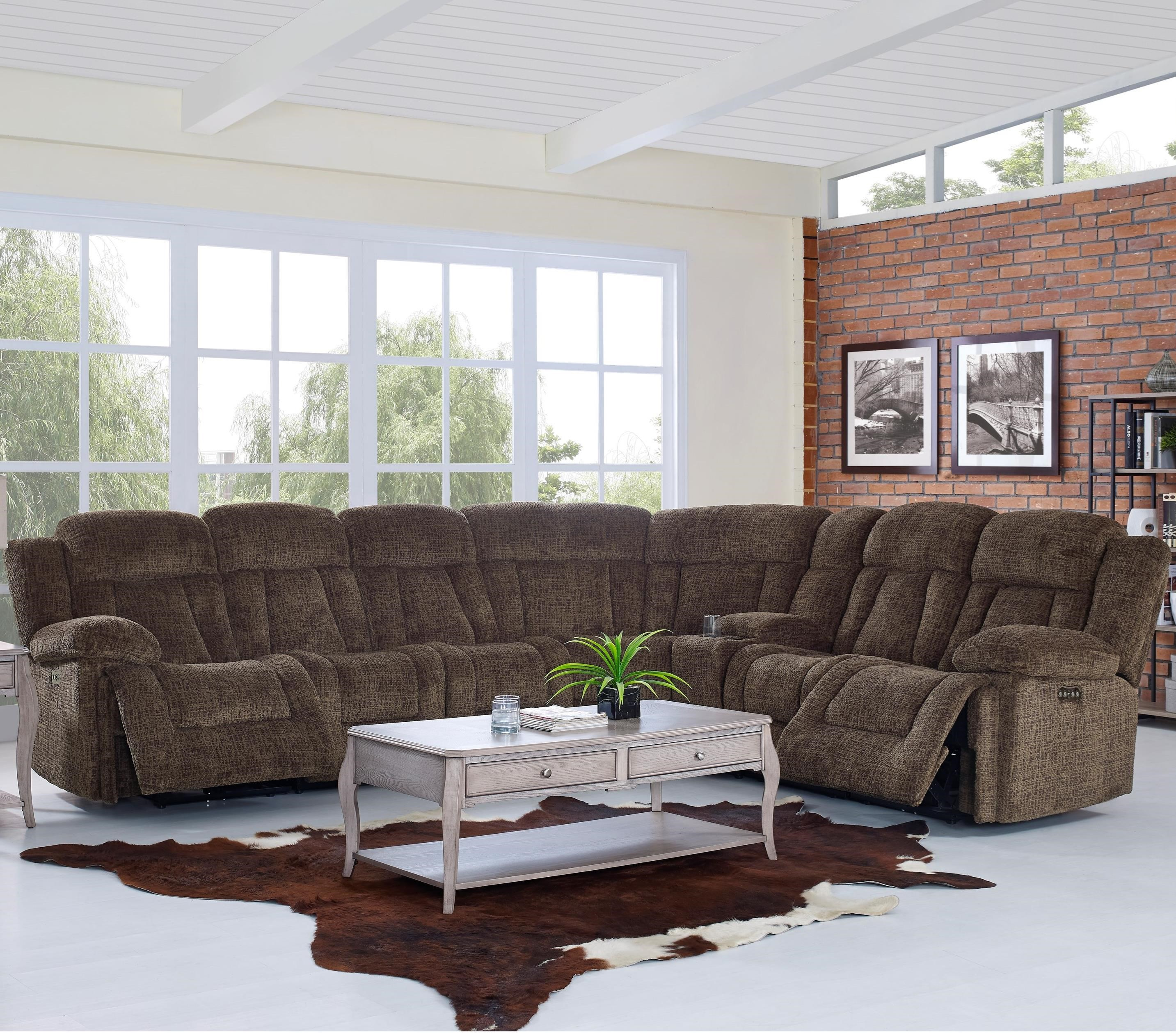New Classic Laura Casual Power Reclining Sectional Sofa with Power