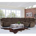 New Classic Laura Power Reclining Sectional Sofa - Item Number: 22-2265-15LPH+3x10+40+42+15RPH-JCH