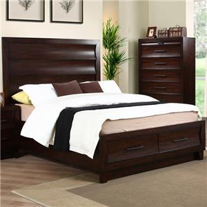 New Classic Lazaro Queen Bed with 2 Storage Drawers
