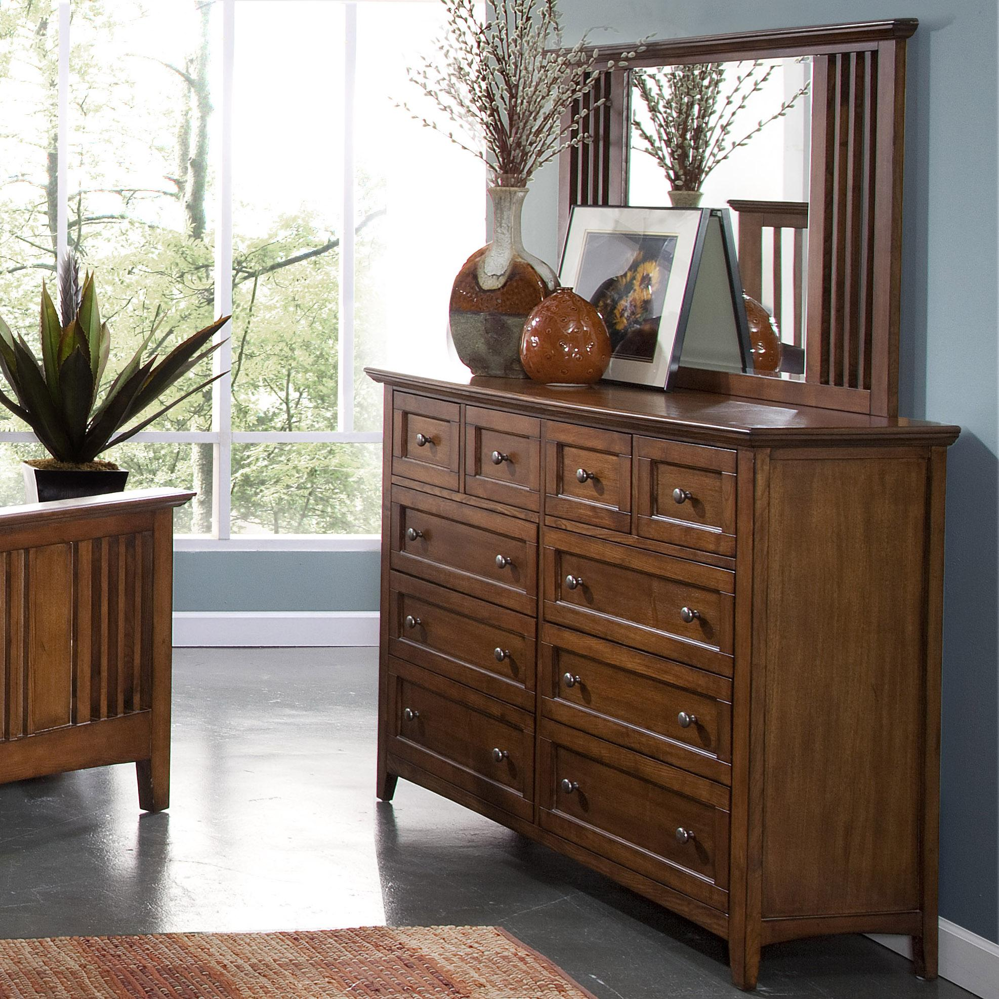 New Classic Logan Dresser and Mirror Set - Item Number: 00-100-050+060