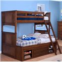 New Classic Logan Twin over Twin-to-Full Bunk Bed with Storage - Item Number: 05-100-518+538+598