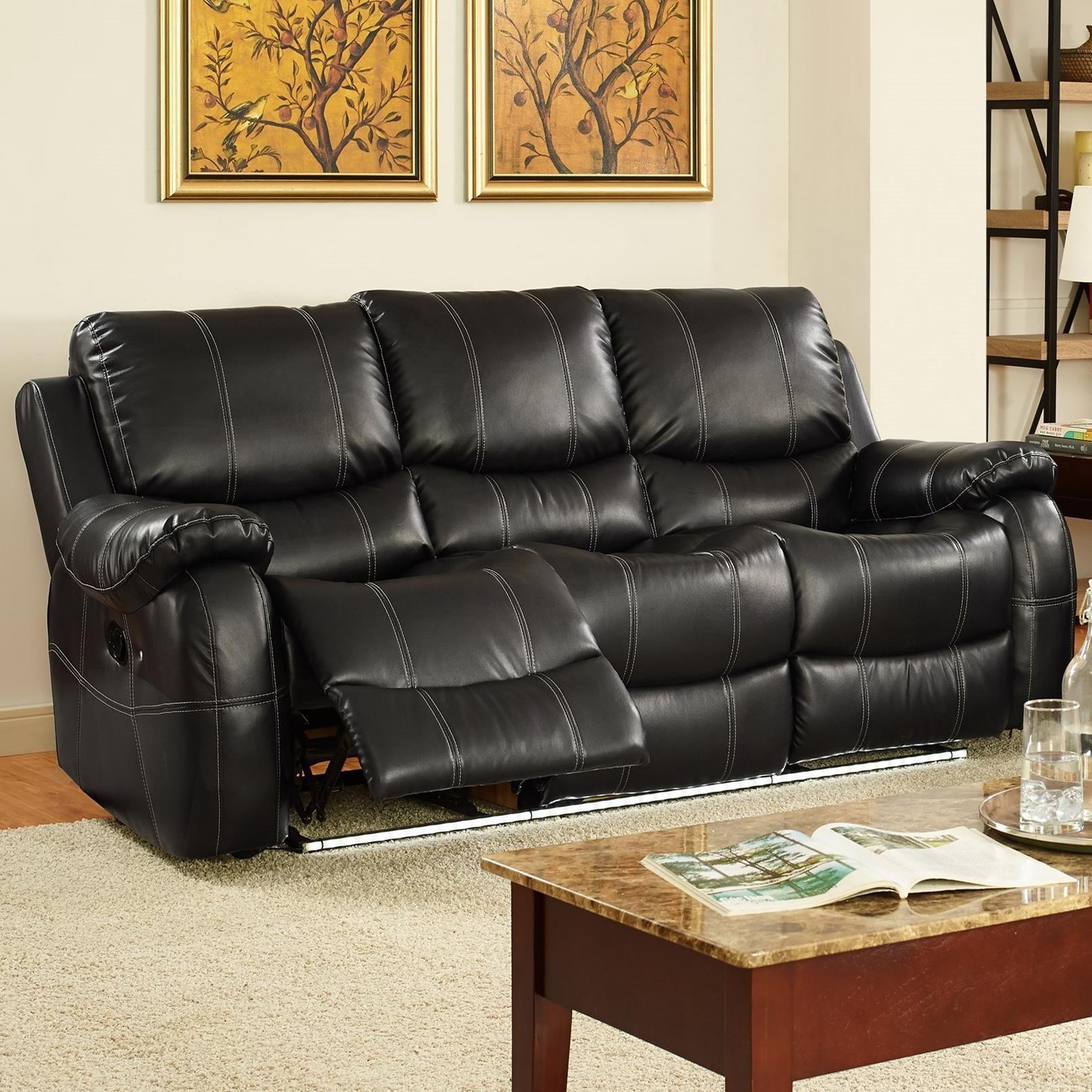 new classic lynx dual reclining sofa item number