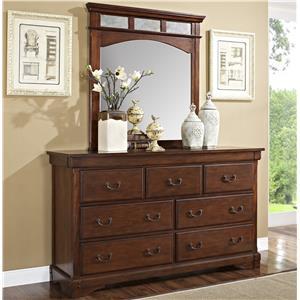 New Classic Madera  Dresser + Mirror