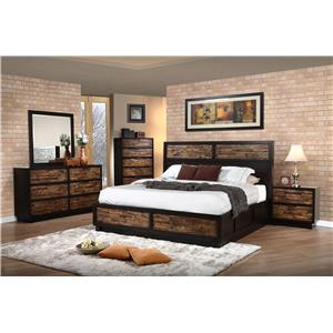 New Classic Makeeda Queen Bedroom Group