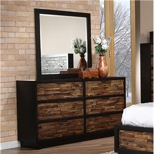 New Classic Makeeda Dresser and Mirror
