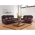 New Classic Mansfield Casual Reclining Loveseat with Padded Headrest