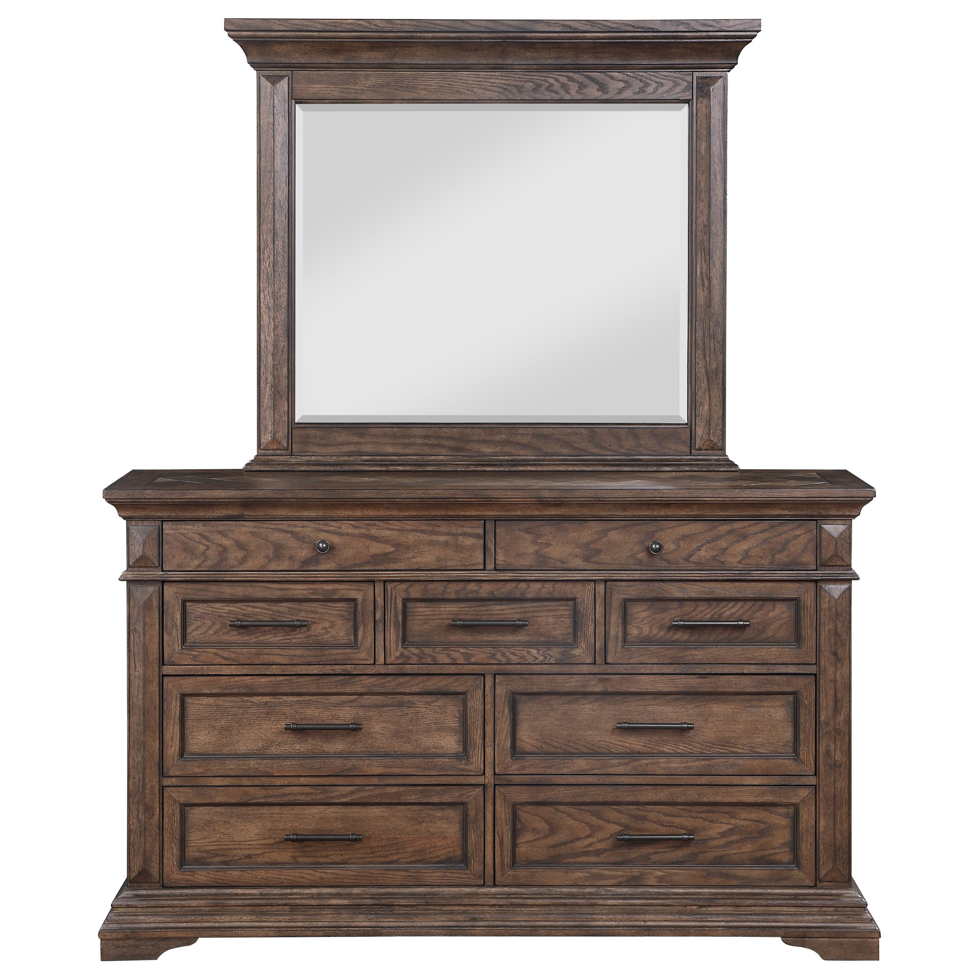 Mar Vista Dresser and Mirror Set by New Classic at Wilcox Furniture