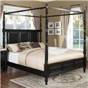 New Classic Martinique Bedroom King Canopy Bed - Item Number: 00-222-111+131