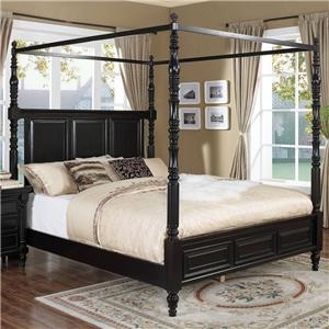 New Classic Martinique Bedroom California King Canopy Bed