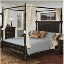 New Classic Martinique Bedroom Transitional Queen Canopy Bed