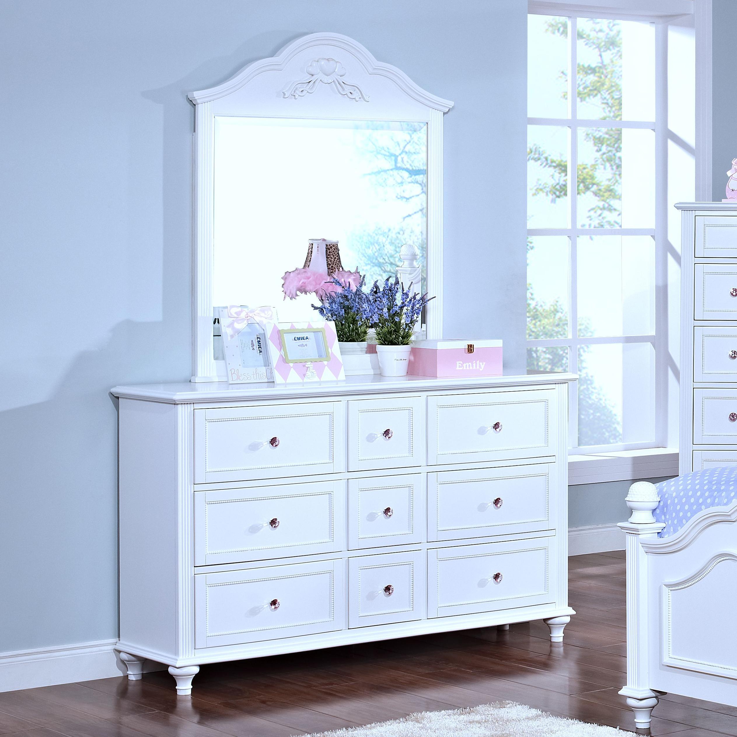 New Classic Megan Dresser and Mirror  - Item Number: 05-242-052+062